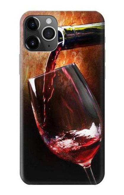 S2396 Red Wine Bottle And Glass Case For iPhone 11 Pro Max