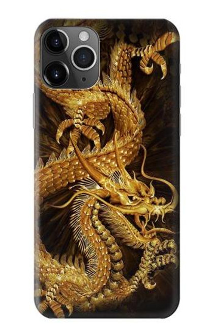 S2804 Chinese Gold Dragon Printed Case For iPhone 11 Pro Max