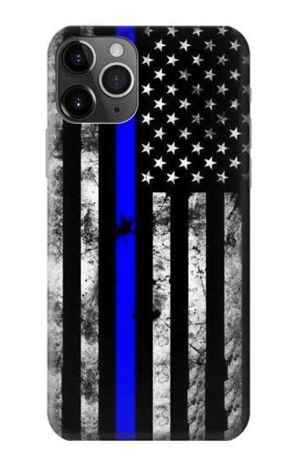 S3244 Thin Blue Line USA Case For iPhone 11 Pro Max