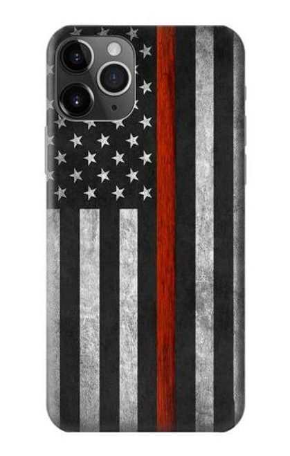 S3472 Firefighter Thin Red Line Flag Case For iPhone 11 Pro Max