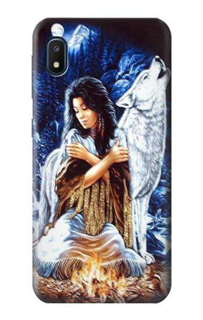 S0147 Grim Wolf Indian Girl Case For Samsung Galaxy A10e