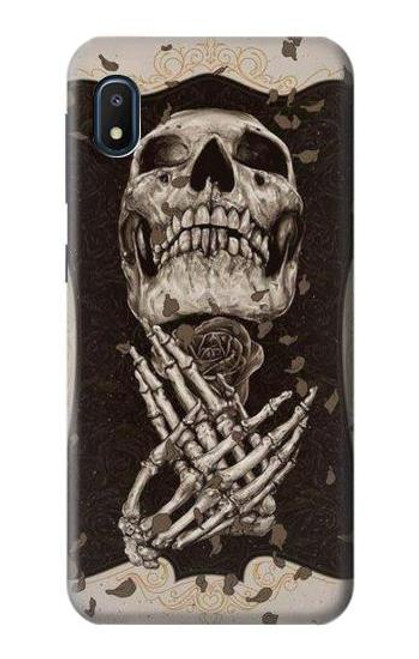 S1676 Skull Rose Case For Samsung Galaxy A10e