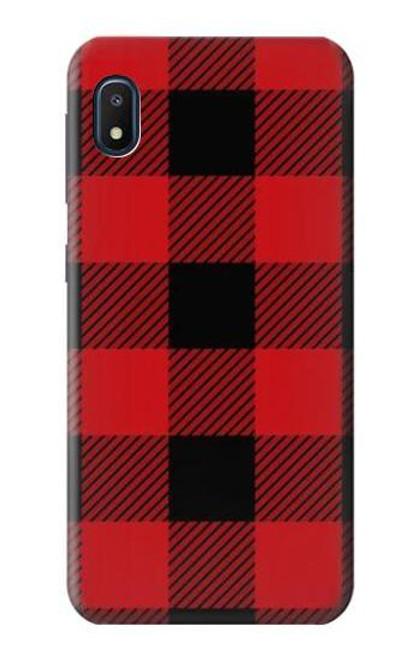 S2931 Red Buffalo Check Pattern Case For Samsung Galaxy A10e