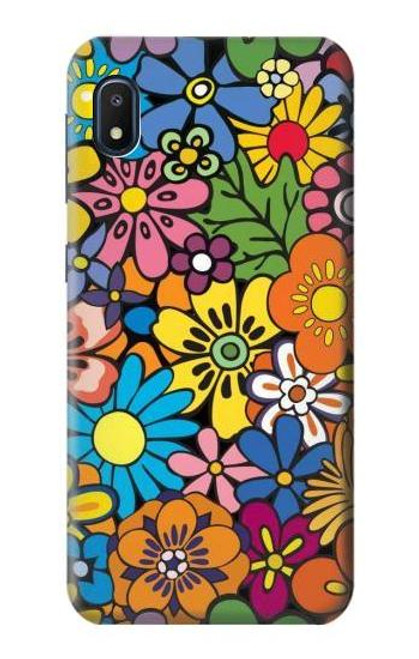 S3281 Colorful Hippie Flowers Pattern Case For Samsung Galaxy A10e