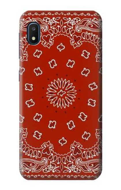 S3355 Bandana Red Pattern Case For Samsung Galaxy A10e