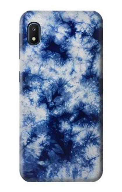 S3439 Fabric Indigo Tie Dye Case For Samsung Galaxy A10e