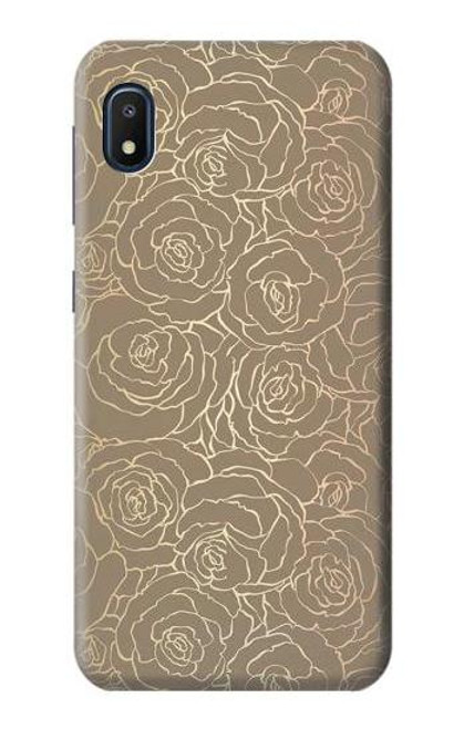 S3466 Gold Rose Pattern Case For Samsung Galaxy A10e