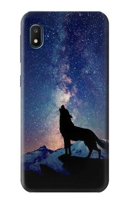 S3555 Wolf Howling Million Star Case For Samsung Galaxy A10e