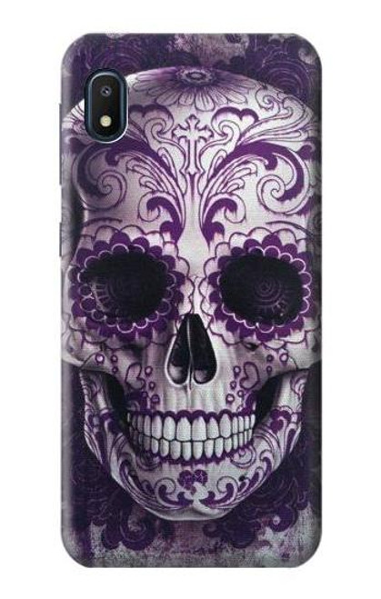 S3582 Purple Sugar Skull Case For Samsung Galaxy A10e