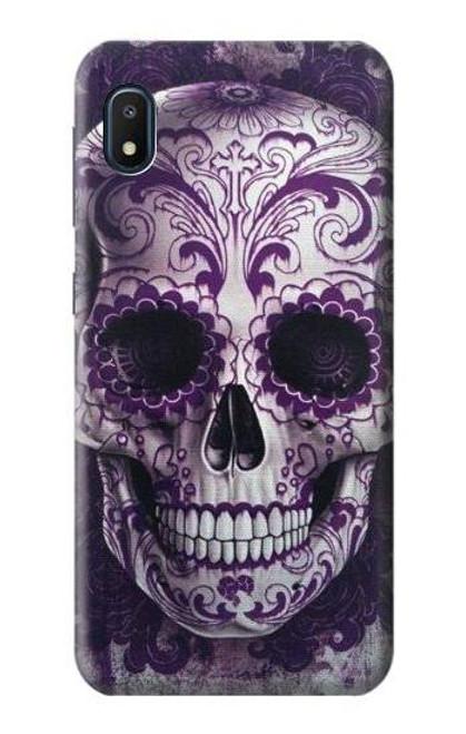 S3582 Purple Sugar Skull Case For Samsung Galaxy A10e