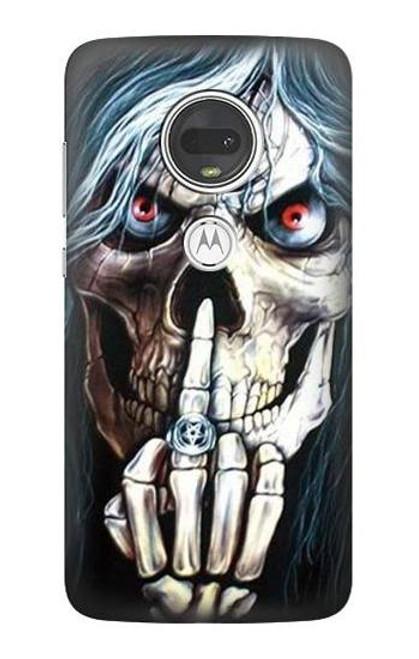 S0222 Skull Pentagram Case For Motorola Moto G7, Moto G7 Plus