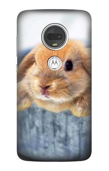 S0242 Cute Rabbit Case For Motorola Moto G7, Moto G7 Plus