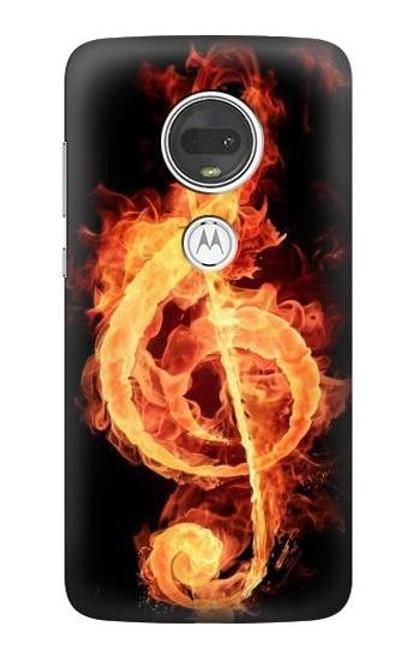 S0493 Music Note Burn Case For Motorola Moto G7, Moto G7 Plus