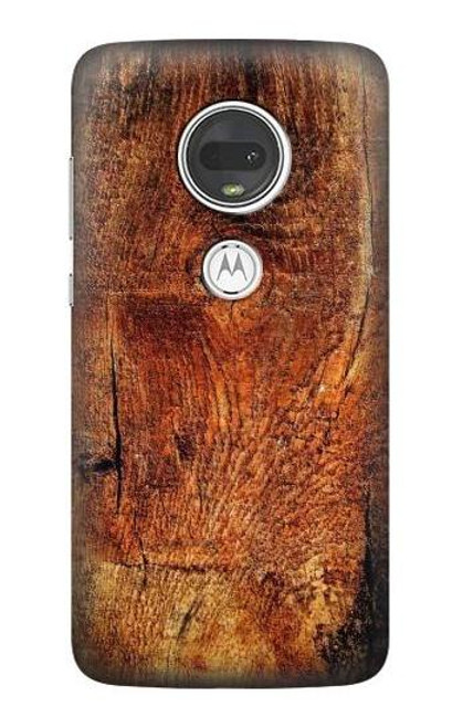 S1140 Wood Skin Graphic Case For Motorola Moto G7, Moto G7 Plus