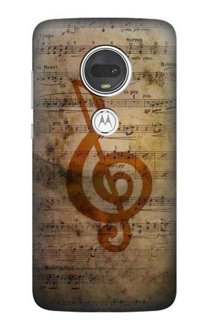 S2368 Sheet Music Notes Case For Motorola Moto G7, Moto G7 Plus