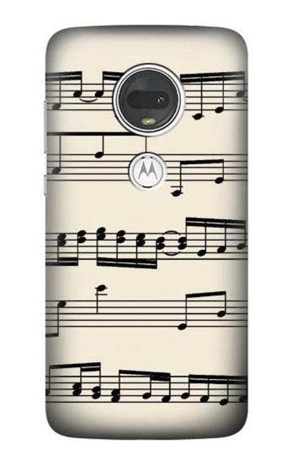 S3082 Music Sheet Case For Motorola Moto G7, Moto G7 Plus