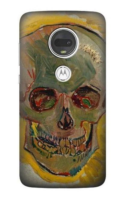 S3359 Vincent Van Gogh Skull Case For Motorola Moto G7, Moto G7 Plus