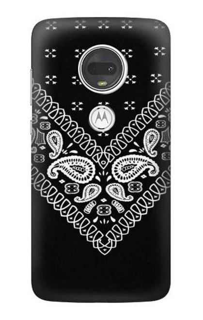 S3363 Bandana Black Pattern Case For Motorola Moto G7, Moto G7 Plus