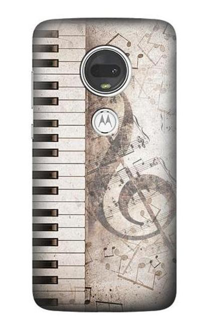 S3390 Music Note Case For Motorola Moto G7, Moto G7 Plus