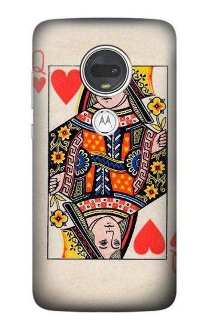 S3429 Queen Hearts Card Case For Motorola Moto G7, Moto G7 Plus