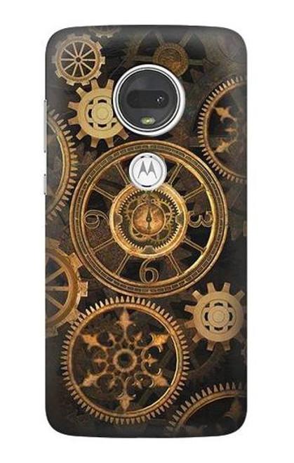 S3442 Clock Gear Case For Motorola Moto G7, Moto G7 Plus