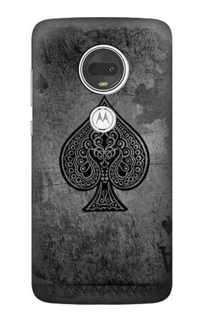 S3446 Black Ace Spade Case For Motorola Moto G7, Moto G7 Plus