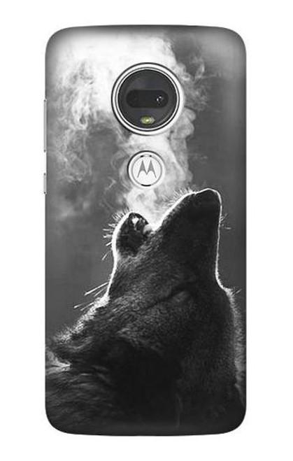 S3505 Wolf Howling Case For Motorola Moto G7, Moto G7 Plus
