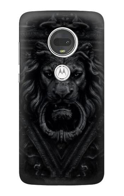 S3619 Dark Gothic Lion Case For Motorola Moto G7, Moto G7 Plus