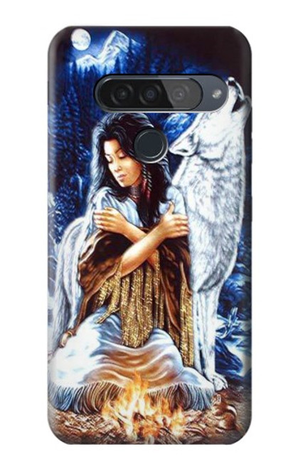 S0147 Grim Wolf Indian Girl Case For LG G8S ThinQ