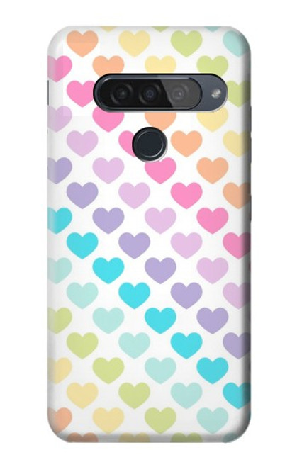 S3499 Colorful Heart Pattern Case For LG G8S ThinQ