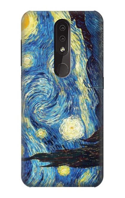 S0213 Van Gogh Starry Nights Case For Nokia 4.2