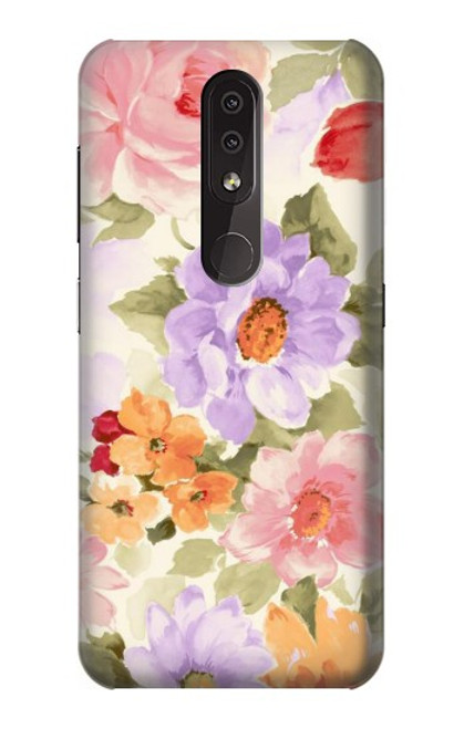 S3035 Sweet Flower Painting Case For Nokia 4.2