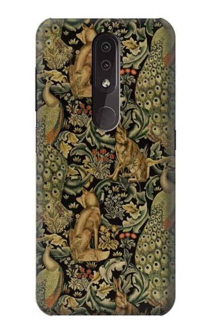 S3661 William Morris Forest Velvet Case For Nokia 4.2