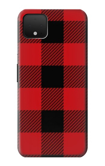 S2931 Red Buffalo Check Pattern Case For Google Pixel 4