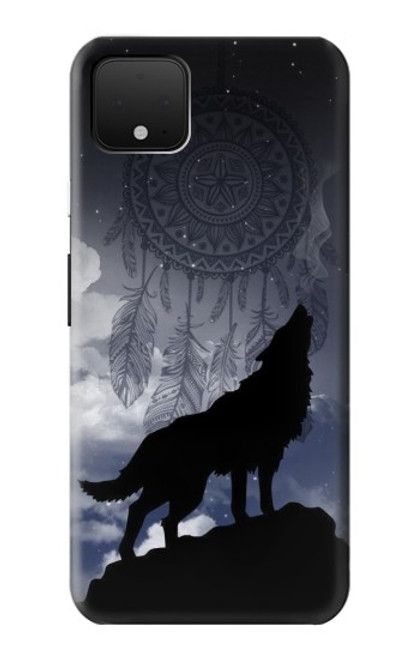 S3011 Dream Catcher Wolf Howling Case For Google Pixel 4