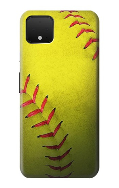 S3031 Yellow Softball Ball Case For Google Pixel 4
