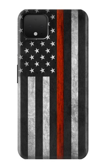 S3472 Firefighter Thin Red Line Flag Case For Google Pixel 4