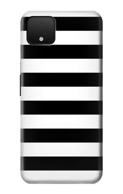 S1596 Black and White Striped Case For Google Pixel 4 XL