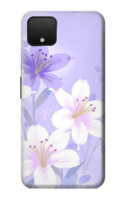 S2361 Purple White Flowers Case For Google Pixel 4 XL
