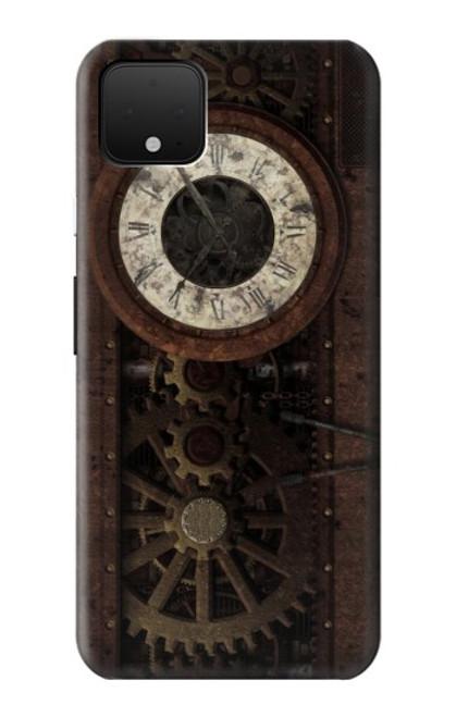 S3221 Steampunk Clock Gears Case For Google Pixel 4 XL