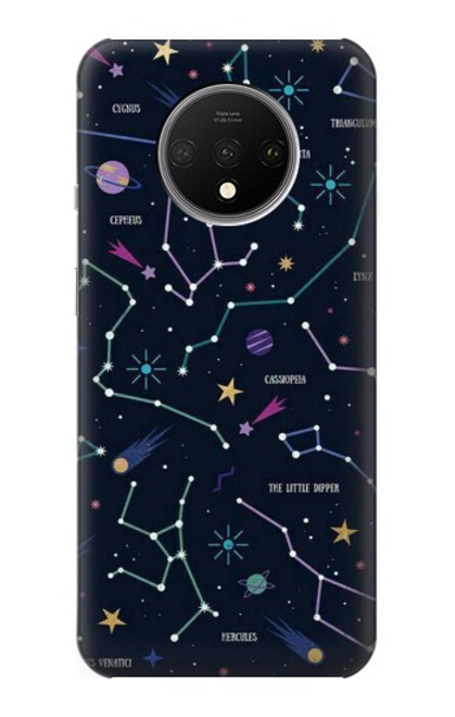 S3220 Star Map Zodiac Constellations Case For OnePlus 7T