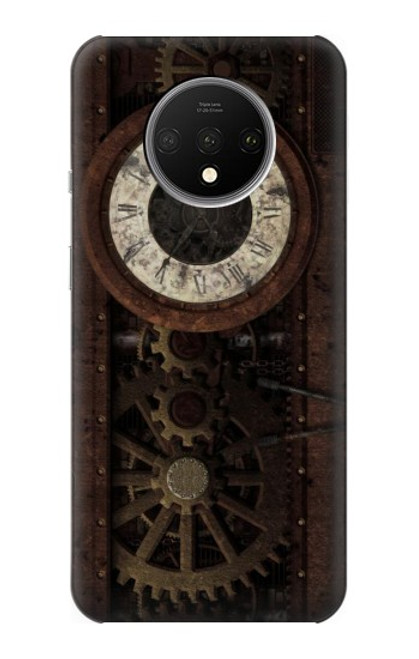 S3221 Steampunk Clock Gears Case For OnePlus 7T