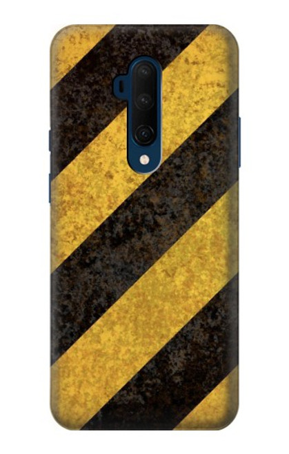 S2231 Yellow and Black Line Hazard Striped Case For OnePlus 7T Pro