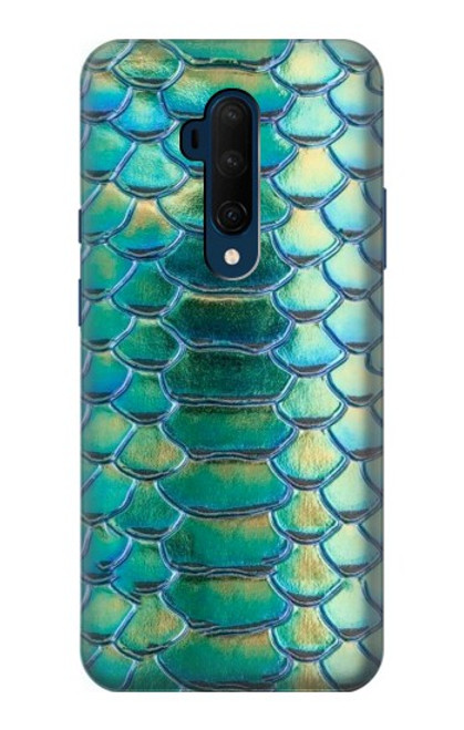 S3414 Green Snake Scale Graphic Print Case For OnePlus 7T Pro