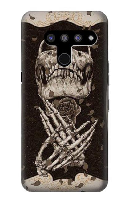 S1676 Skull Rose Case For LG V50, LG V50 ThinQ 5G