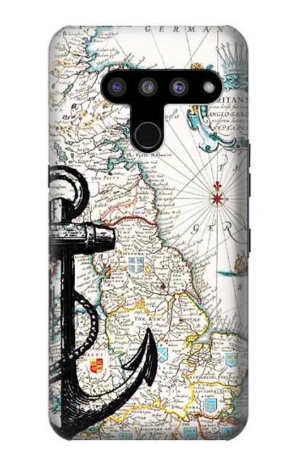 S1962 Nautical Chart Case For LG V50, LG V50 ThinQ 5G