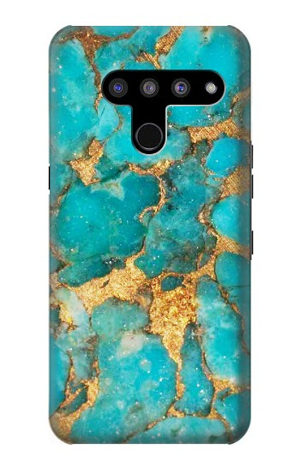 S2906 Aqua Turquoise Stone Case For LG V50, LG V50 ThinQ 5G