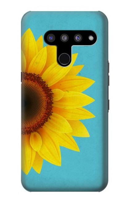 S3039 Vintage Sunflower Blue Case For LG V50, LG V50 ThinQ 5G