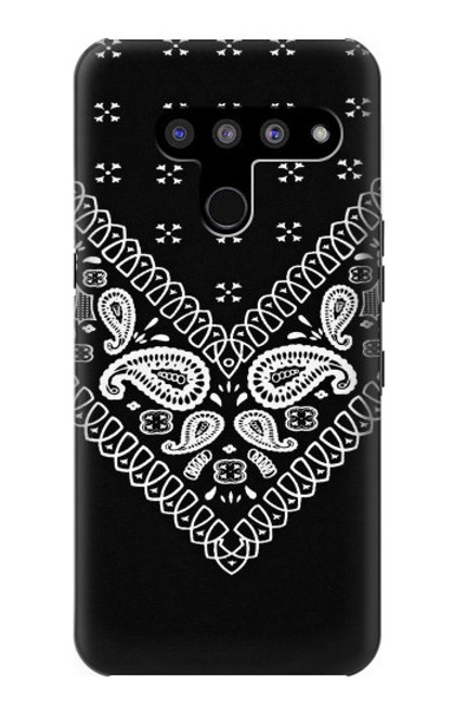 S3363 Bandana Black Pattern Case For LG V50, LG V50 ThinQ 5G
