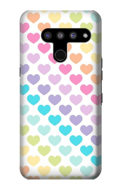 S3499 Colorful Heart Pattern Case For LG V50, LG V50 ThinQ 5G